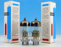 MATCHED ECC84 RFT Funkwerk Erfurt PAIR Double Triode Foil Getter TUBES 6CW7 6L16