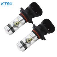 2X 9005 HB3 H10 6000K 100W LED HID White 2323 Fog Driving DRL Light Bulbs CA