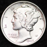1945-D AU MERCURY DIME / DENVER MINT ALMOST UNCIRCULATED 90% SILVER COIN