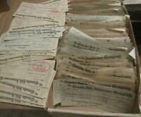 Lot of 25 random Canadian Checks/Cheques with 6 cent blue excise stamp (fx40)