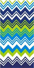 "30"" x 60"" Fashion Zig Zag Chevron Velour Beach Velour Beach Towel"
