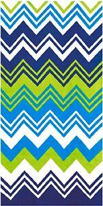 "30"" x 60"" Fashion Zig Zag Chevron Velour Beach Velour Beach Towel"