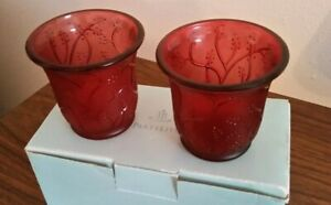 "PartyLite ""Berry Spring"" Votive Pair #P8727 -"
