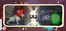 "RAYMAN RAVING RABBIDS VIDEO GAME DOGS 4"" VINYL ACTION FIGURE SET UBISOFT NEW #2"