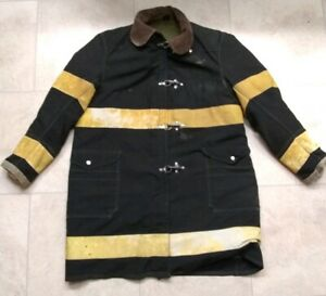 Globe Mfg Co Firefighter Turnout Gear Coat vintage Bound Brook New Jersey Chief