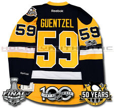 5a601f8624f JAKE GUENTZEL PITTSBURGH PENGUINS 2017 STANLEY CUP JERSEY REEBOK 100TH 50TH  NEW
