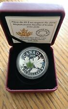 2014 $20 RCM Canadian Proof Majestic Maple Leaves Jade Inlay
