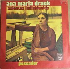"ANA MARIA DRACK ASIENTOS INDIVIDUALES / PESCADOR SPANISH 7"" SINGLE PS CUT OUT"
