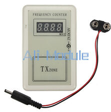 RF Frequency Detector Cymometer Meter Scanner Count 250-450MHZ Remote Controll
