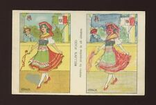 Novelty Advert MELLIN'S FOOD child colouring Italy national dress c1920/30s? PPC