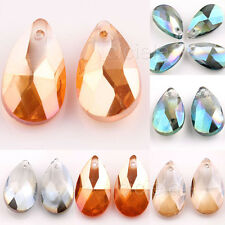 Teardrop Faceted Crystal Glass Loose Beads Lot For Jewelry Making DIY Wholesales