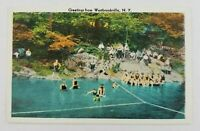 Postcard Greetings From Westbrookville New York Swimming at Park