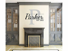 "Personalized Family Name Wall Decal Monogram #23 Family Room Vinyl 15"" tall"