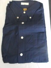 NOS 50's-60's SEARS Navy Blue Button Down Back Loop Long Sleeve MOD or GREASER L