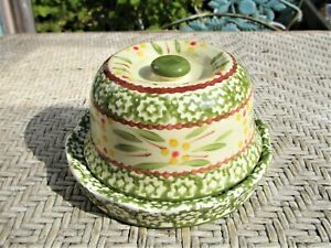 Temptations by Tara Green French Butter Keeper Hand Painted Old World
