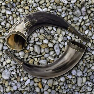 Beer Mug Viking Horn Drinking Beer Tankard Iron Stand Medieval Birthday Gifts