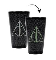 Harry Potter Cold Thermo Effect Glass Deathly Hallows Logo