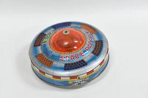 KO Yoshiya X-081 Space Patrol Flying Saucer Space-Ship Vintage Tin Toy - Japan