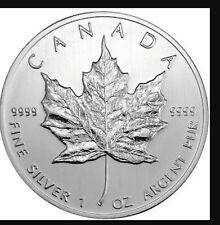 25x1 Oz .9999 Silver 2013 Canadian Maple Leafs