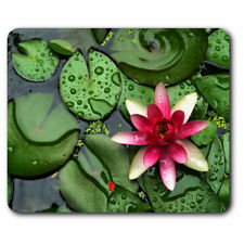 Computer Mouse Mat - Pink Water Lily Flower Pond Zen Office Gift #12200