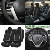 Modernistic and Seat Belt Pads Combo Set Gray FH Group FH2033GRAY Steering Wheel Cover