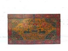 China Tibet Box Truhe 100 Jahre alt klassische bunte Bemalung