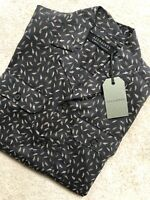 """ALL SAINTS MEN'S WASHED BLACK """"GLIDE"""" PATTERNED S/S SHIRT TOP - XS - NEW & TAGS"""