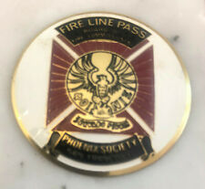 San Francisco Fire Department Fire Lines Badge, Phoenix Society, circa 1965