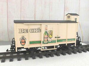 LGB (4026)  BECK'S BEER 2-AXLE WAGON with BRAKEMAN'S CAB