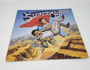 Movie Soundtrack Superman III 1983 US 10 Track Gold Foil Stamped Promo LP Album
