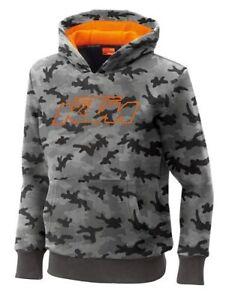 KTM Kid's Hidden Hoodie Grey Camo Youth Hooded Jacket Size Medium Was $57.00