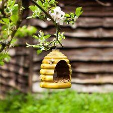 Wandbehang Futterstelle für Vögel Keramik Bienenkorb Form Außen Garten