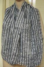 """ESCADA 90s NWOT 52.50"""" Sq Silk Chiffon SCARF- Stripe-Paisley-Floral Motif  Italy"""