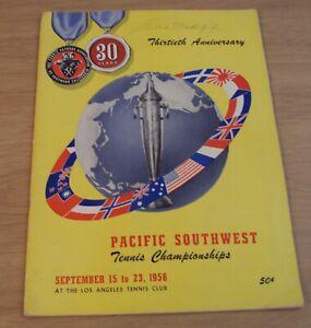 """1956 TENNIS Championships Guide/Program~""""PACIFIC SOUTHWEST"""" LA Cal~ROD LAVER~"""