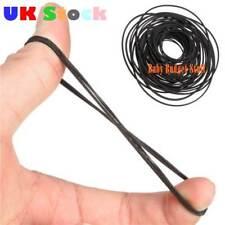 50PCS/lot 40-130mm Mix Cassette Tape Machine Belt Assorted Common Belt Black UK