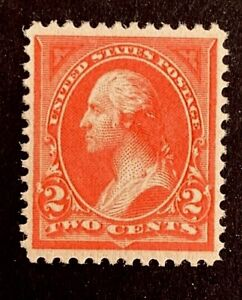 "US Stamp, Scott #248, 2c 1894, 2018 PSAG Certificate GC XF 90 M/NH ""Pink"" color"