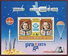 "MONGOLIE BLOC N°55** Bf  Espace, ""Praga"" 78 TB, 1978 MONGOLIA Space SHEET MNH"