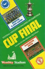 FA Cup Final Brighton & Hove Albion v Manchester United1983 Official Programme
