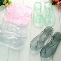Women's Flip Flops Transparent Slippers Sandals Waterproof Flat Shoes Chic Zsell