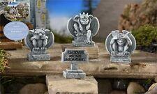 FAIRY GARDEN Miniature ~ Medieval Times Gargoyles And Sign ~ Mini Dollhouse