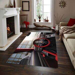 Porsche 911, Rug, Area Rug,Non Slip Floor Carpet,Teen's Carpet ,Room Decor