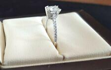 Zertifizierter Diamantring Solitär 0,80ct / Edelmetall 750er 18karat weissgold
