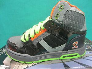 New Skechers Endors Quork Boys 12 M Junior Shoes Sneakers 9187L Charcoal/BLack