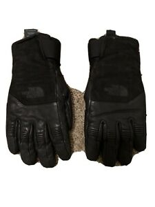 Mens North Face Extreme Cold Weather Gloves Size Large With Shearling Liner.