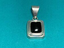 🌸 Silpada 925 Sterling Silver Black Onyx Pendant  (P14) 🌸