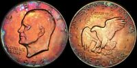 1972 EISENHOWER ONE DOLLAR COLOR TONED COIN IN HIGH GRADE !!!
