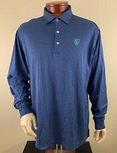 PETER MILLAR Men's Carolina Country Club Long Sleeve Golf Polo Shirt Size XL
