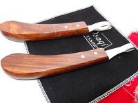 30Days Warranty_Wood Handle Horse Grooming Eye loop hoof knife/Knives