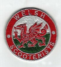 Iron On/ Sew On Embroidered Patch Badge Circle Welsh Scooterist MOD Wales Dragon