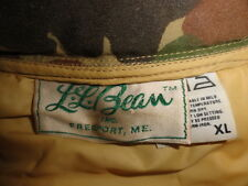 Men's Vtg Camo L.L BEAN Cursive Label Outdoorsman Field Puffy Hunting Vest Sz-XL